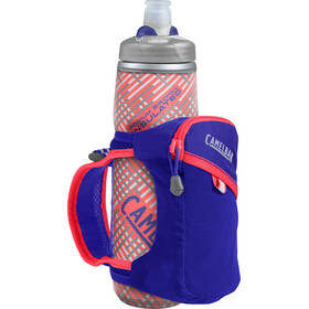 CamelBak Quick Grip Chill Handheld Water Bottle, deep amethyst/fiery coral